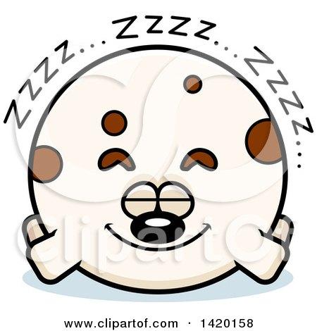 Clipart of a Cartoon Chubby Dog Sleeping - Royalty Free Vector Illustration by Cory Thoman