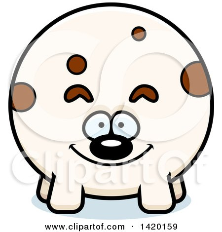 Clipart of a Cartoon Chubby Dog - Royalty Free Vector Illustration by Cory Thoman