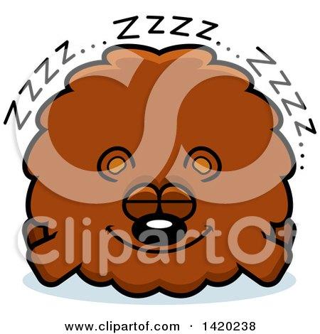 Clipart of a Cartoon Chubby Bear Sleeping - Royalty Free Vector Illustration by Cory Thoman