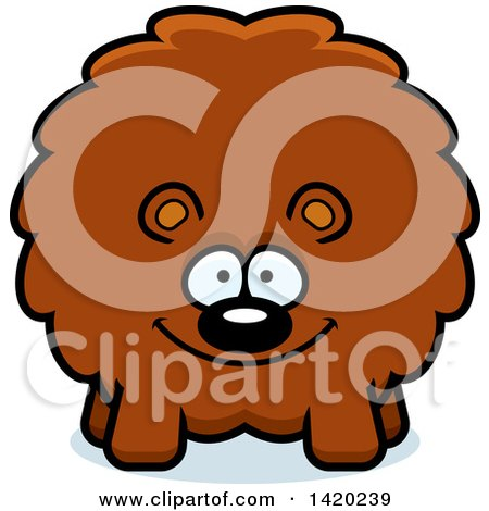 Clipart of a Cartoon Chubby Bear - Royalty Free Vector Illustration by Cory Thoman