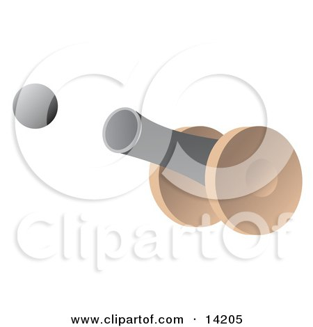 Cannon Firing a Cannon Ball Clipart Illustration by Rasmussen Images