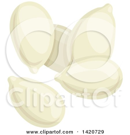 Clipart of Pumpkin Seeds - Royalty Free Vector Illustration by Vector Tradition SM