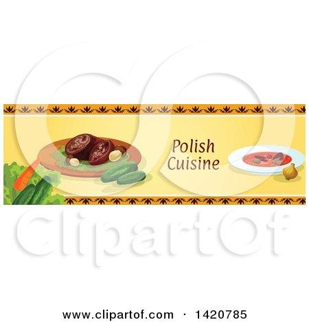 Clipart of a Polish Food Menu Header or Border - Royalty ...