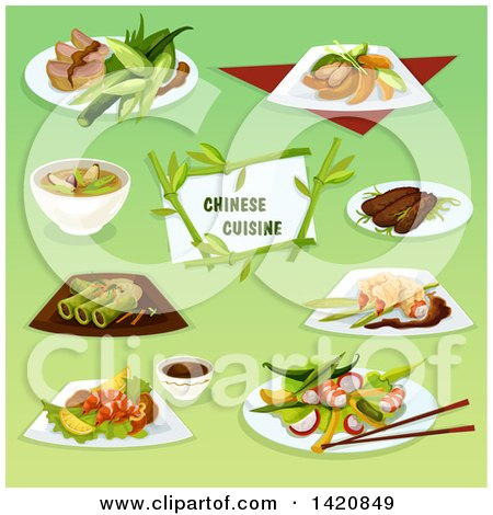Clipart of Chinese Cuisine - Royalty Free Vector Illustration by Vector Tradition SM
