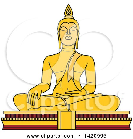 Clipart of a Thailand Landmark, Buddha - Royalty Free Vector Illustration by Vector Tradition SM