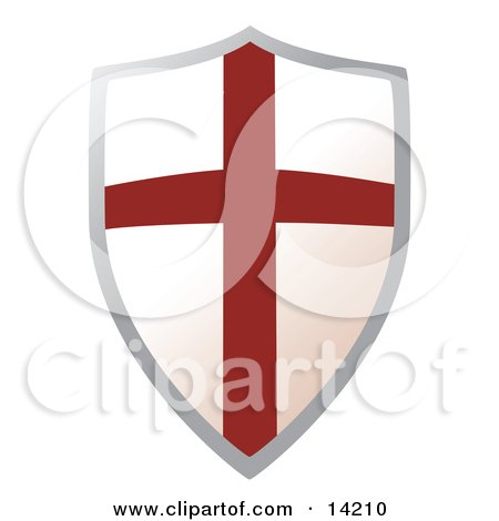 Metal Shield With a Cross Posters, Art Prints