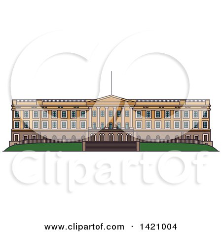 Clipart of a Norway Landmark, Royal Palace - Royalty Free Vector Illustration by Vector Tradition SM