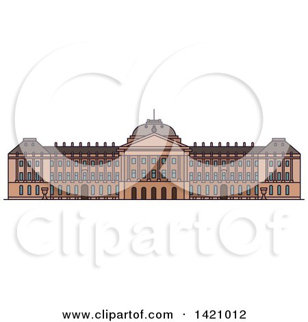 Clipart of a Belgium Landmark, Royal Palace - Royalty Free Vector Illustration by Vector Tradition SM