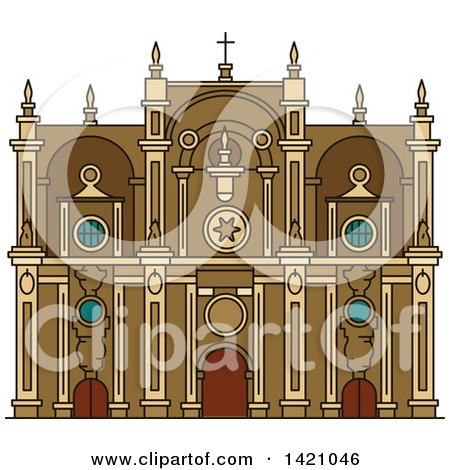 Clipart of a Spain Landmark, Granada Cathedral - Royalty Free Vector Illustration by Vector Tradition SM