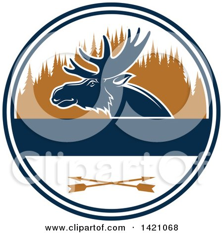 Clipart of a Moose Hunting Design - Royalty Free Vector Illustration by Vector Tradition SM
