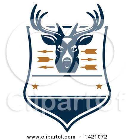Clipart of a Deer Hunting Design - Royalty Free Vector Illustration by Vector Tradition SM