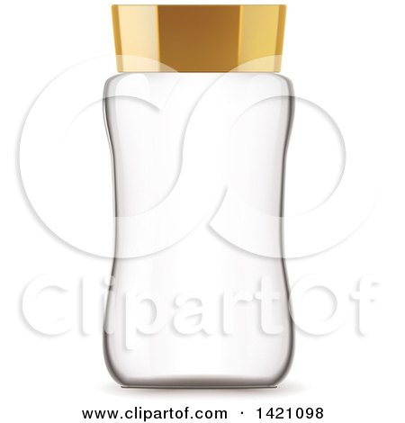 Clipart of a 3d Empty Glass Jar - Royalty Free Vector Illustration by Vector Tradition SM