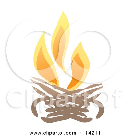 Burning Campfire Clipart Illustration by Rasmussen Images