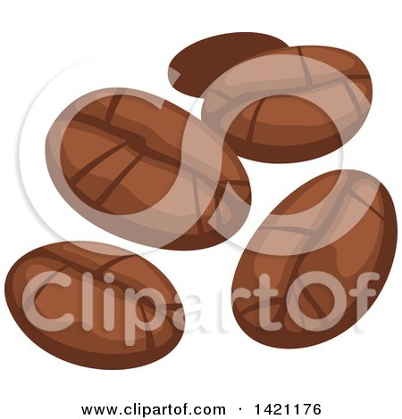 Clipart of Coffee Beans - Royalty Free Vector Illustration by Vector Tradition SM