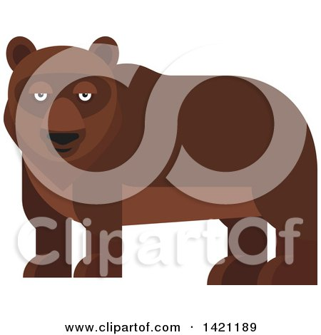 Clipart of a Cartoon Bear - Royalty Free Vector Illustration by Vector Tradition SM