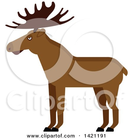 Clipart of a Cartoon Elk - Royalty Free Vector Illustration by Vector Tradition SM