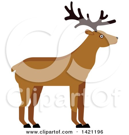 Clipart of a Cartoon Buck Deer - Royalty Free Vector Illustration by Vector Tradition SM
