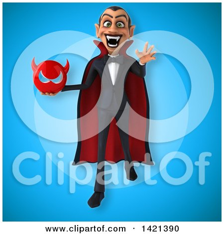 Clipart of a 3d Dracula Vampire - Royalty Free Illustration by Julos