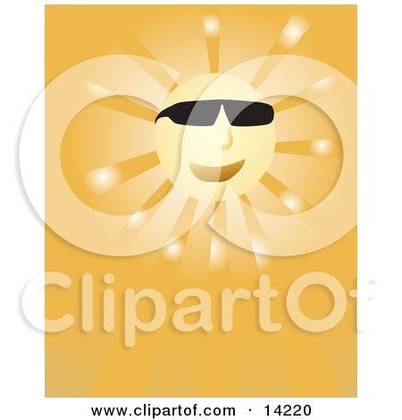 Happy Sun Wearing Sunglasses Posters, Art Prints