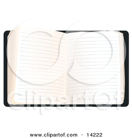 Open Journal With Lined Pages Clipart Illustration by Rasmussen Images