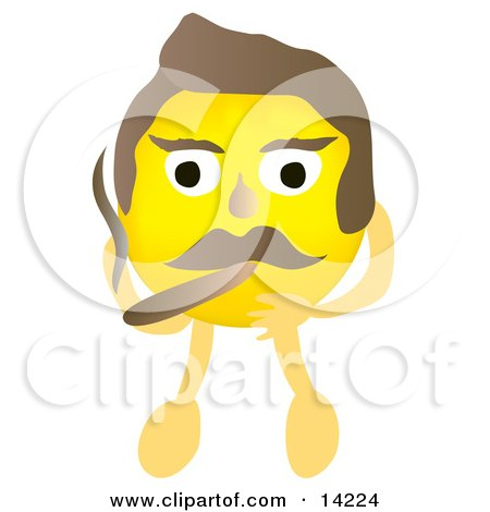Yellow Male Smiley Face Smoking a Cigar Posters, Art Prints by ...
