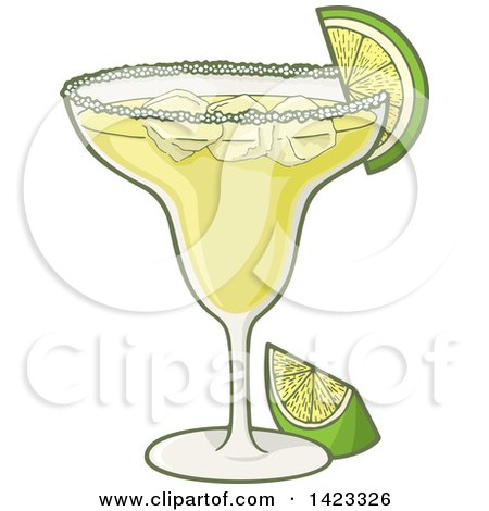 Royalty-Free (RF) Clipart Illustration of a Lime Garnish On A ...