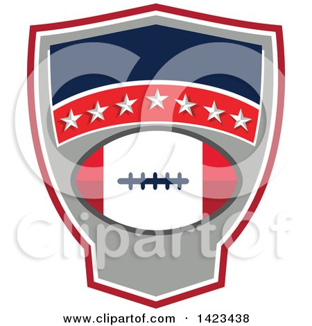 Clipart of a Retro Super Bowl 51 Houston, TX Themed Football Design with Text Space - Royalty Free Vector Illustration by patrimonio