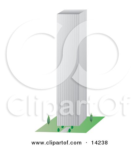 Tall City Building Clipart Illustration by Rasmussen Images