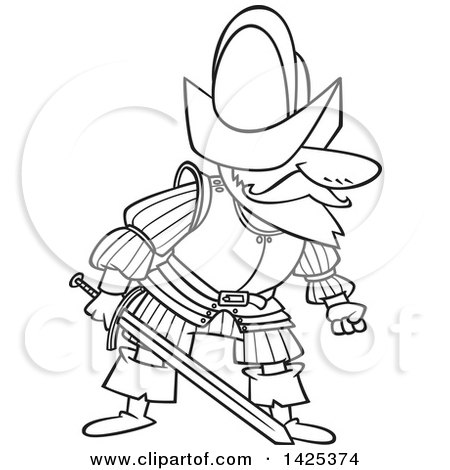 coloring pages of a conquistador - photo#10