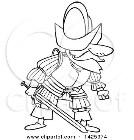 coloring pages of a conquistador - photo#6