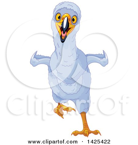 Clipart of a Cute Eaglet Running - Royalty Free Vector Illustration by Pushkin