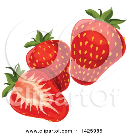 Clipart of Strawberries - Royalty Free Vector Illustration by Vector Tradition SM