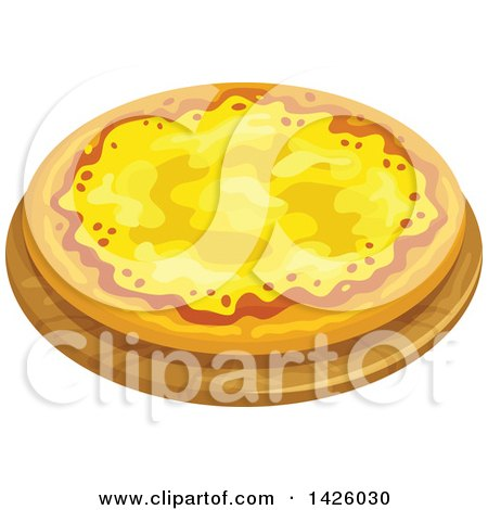 Clipart of a Cheese Ai Quattro Formaggi Pizza - Royalty Free Vector Illustration by Vector Tradition SM