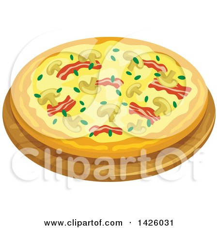 Clipart of a Pizza, Veronese - Royalty Free Vector Illustration by Vector Tradition SM