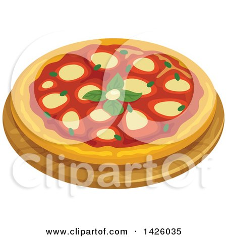 Clipart of a Pizza, Napoletana - Royalty Free Vector Illustration by Vector Tradition SM