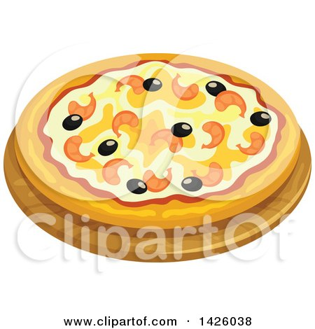 Clipart of a Pizza, Marinara - Royalty Free Vector Illustration by Vector Tradition SM