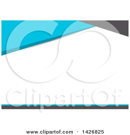 Gray, Blue and White Wesite Background or Business Card Design Posters, Art Prints