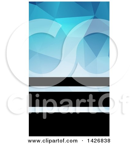 Clipart of a Black and Blue Geometric Styled Wesite Background or Business Card Design - Royalty Free Vector Illustration by KJ Pargeter