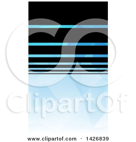 Black and Blue Geometric Styled Wesite Background or Business Card Design Posters, Art Prints
