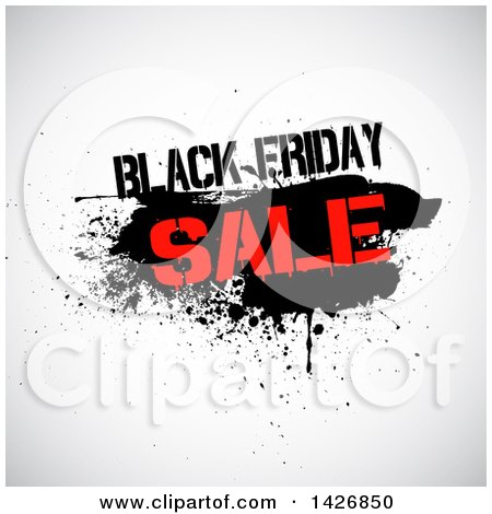 Clipart of a Grungy Black Frdiday Sale Design - Royalty Free Vector Illustration by KJ Pargeter