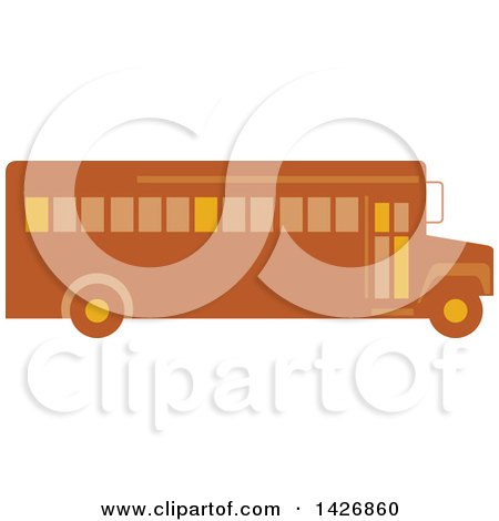 Clipart of a Retro School Bus - Royalty Free Vector Illustration by patrimonio