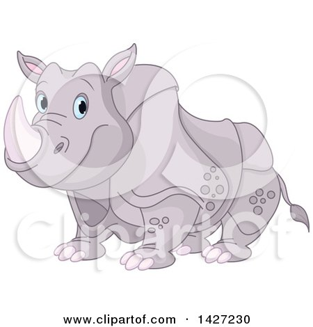Cute Adorable Rhinoceros with Blue Eyes Posters, Art Prints