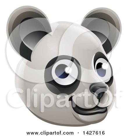 Clipart of a Happy Panda Face Avatar - Royalty Free Vector Illustration by AtStockIllustration