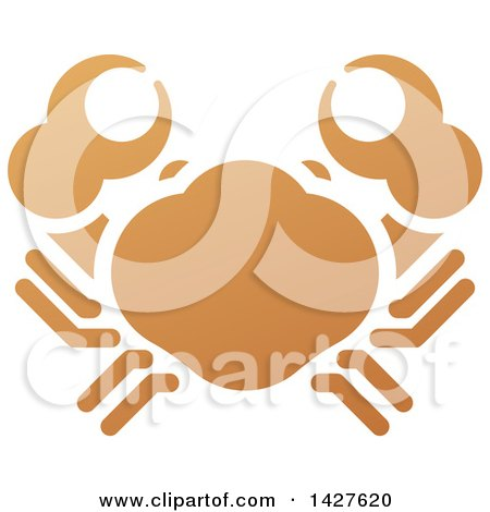 Clipart of a Gradient Brown Orange Crab - Royalty Free Vector Illustration by AtStockIllustration