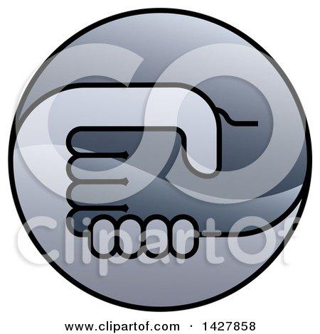 Round Gradient Handshake Logo Icon Posters, Art Prints