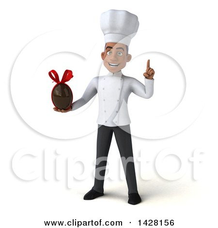 Clipart of a 3d Young Black Male Chef, on a White Background - Royalty Free Illustration by Julos