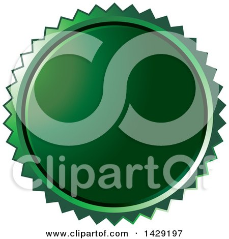 Clipart of a Green Burst Badge - Royalty Free Vector Illustration by Lal Perera
