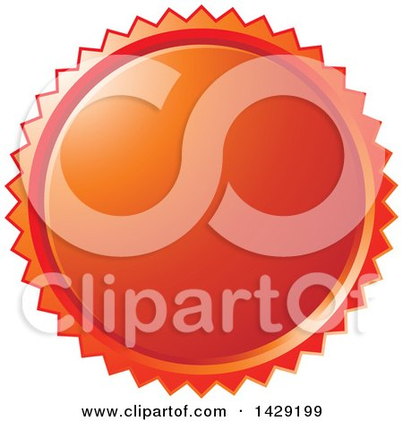 Clipart of a Red Burst Badge - Royalty Free Vector Illustration by Lal Perera