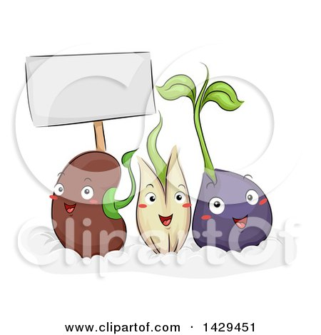 cartoon of a happy seedling plant mascot royalty free vector