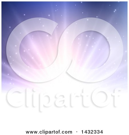 Clipart of a Background of Sun Rays on Purple - Royalty Free Vector Illustration by KJ Pargeter